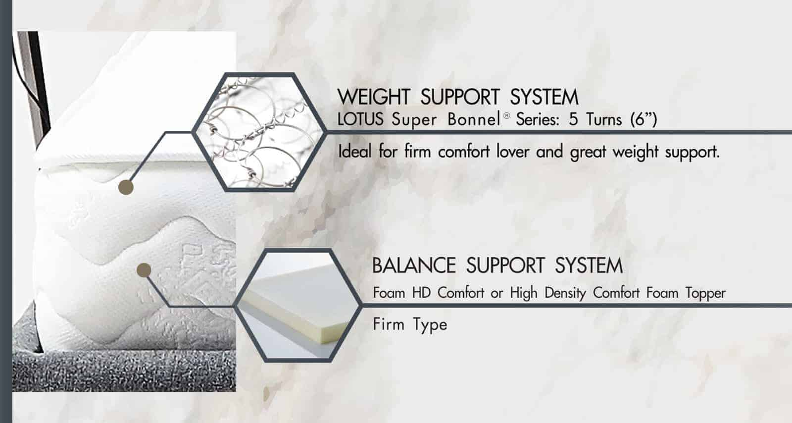 Lotus Foam Spring Mattress Delight – Ideal Firm Mattress – Thickness 10 inches – Warranty 10 years 8