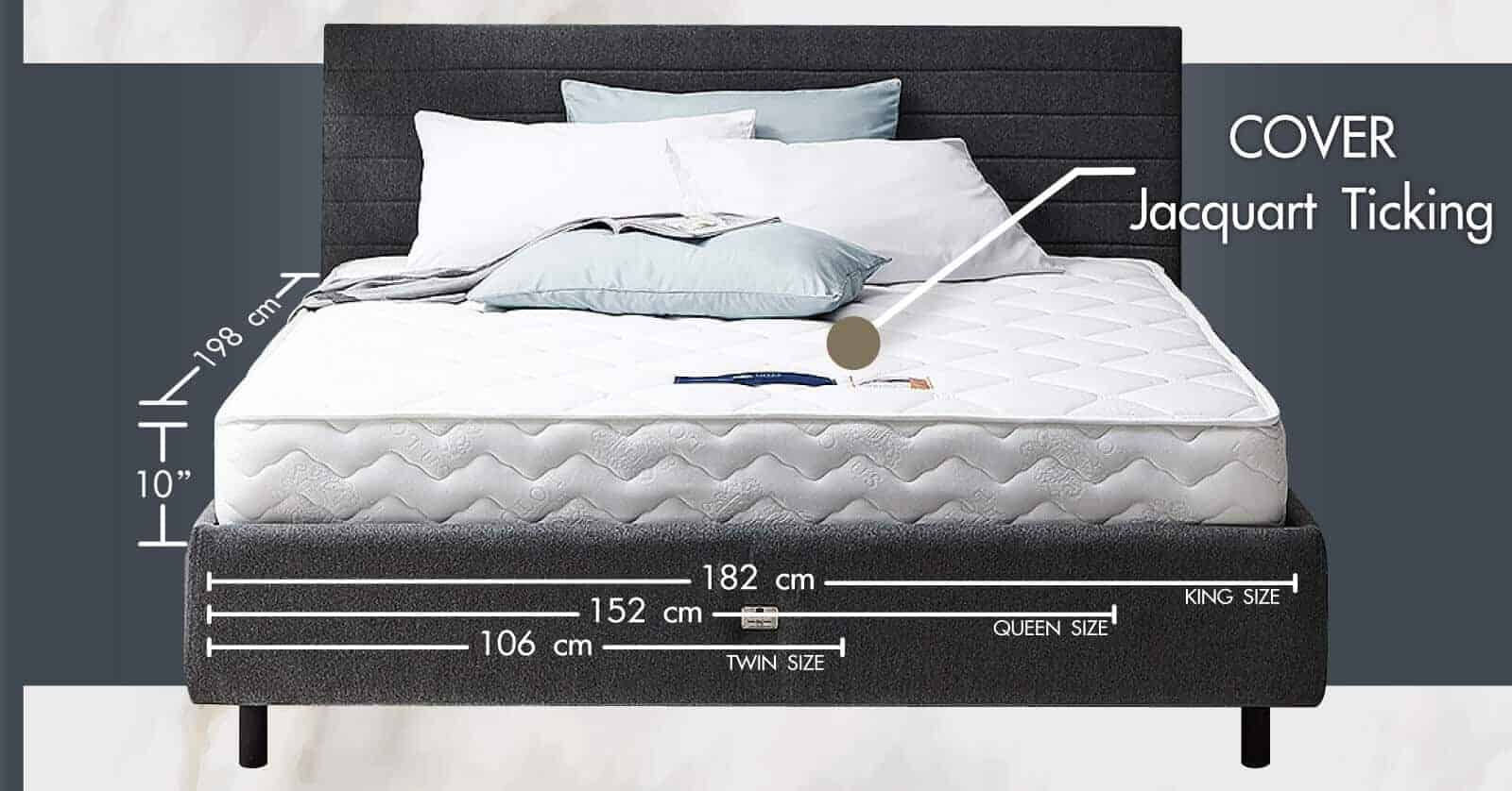 Lotus Foam Spring Mattress Delight – Ideal Firm Mattress – Thickness 10 inches – Warranty 10 years 9