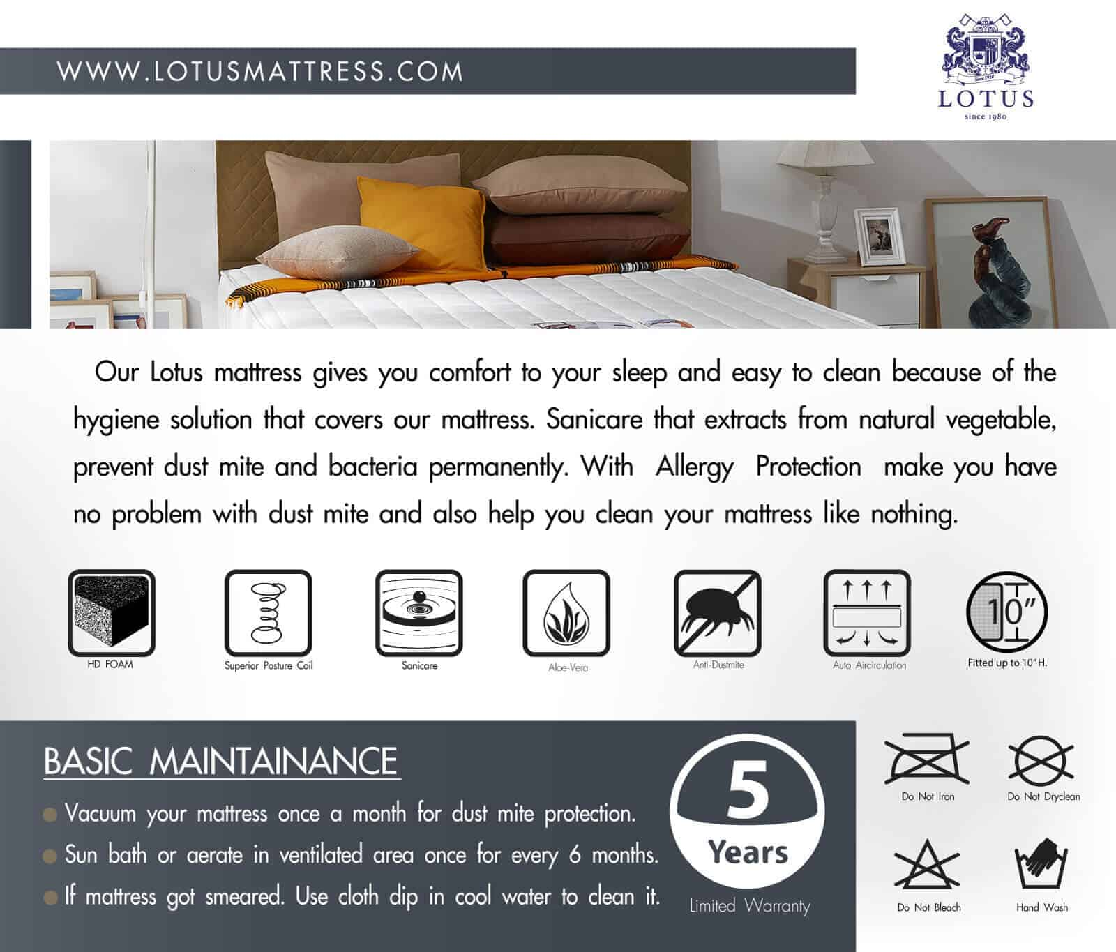 Lotus Mattress - O-Season Deluxe I 14