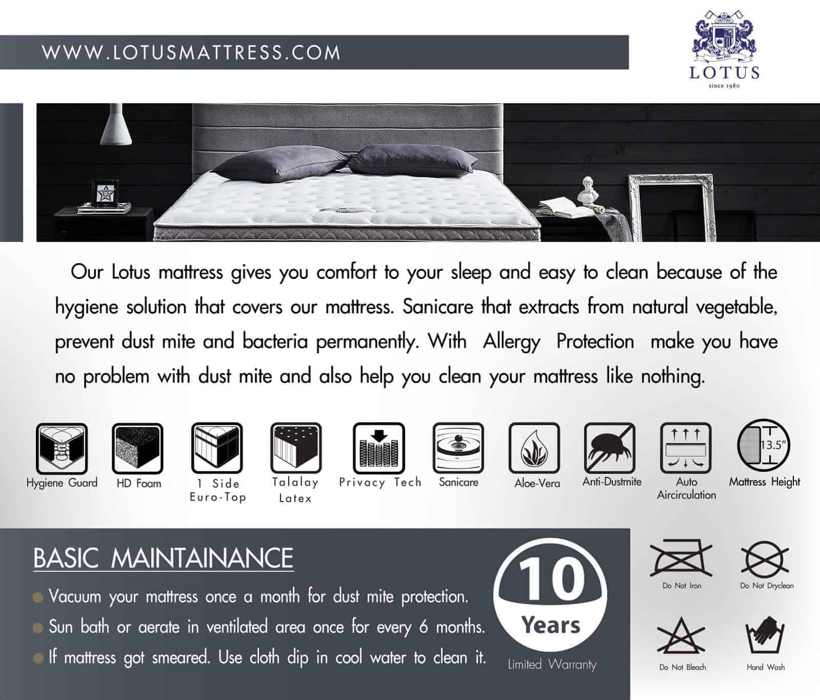 Lotus Mattress | Privacy Tech - OPULENZE 17