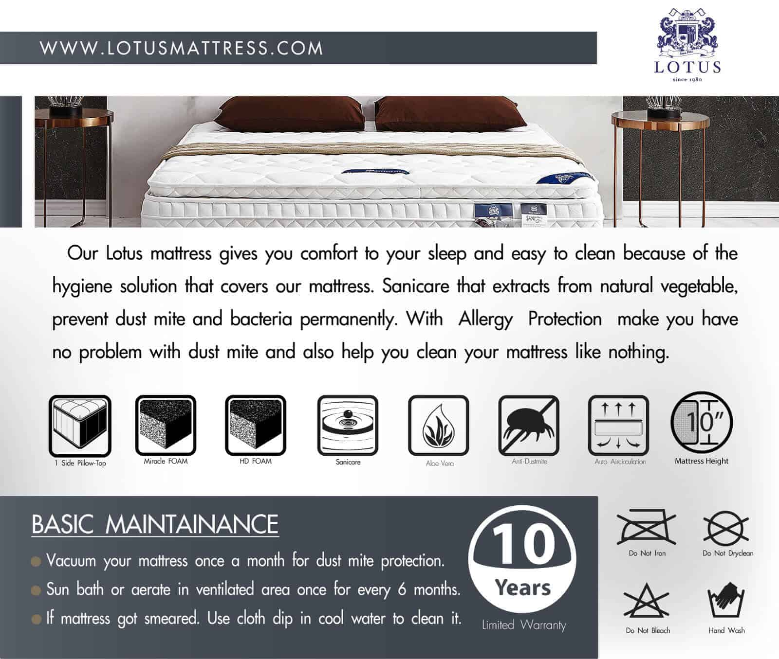 Lotus Mattress - Royal California 15