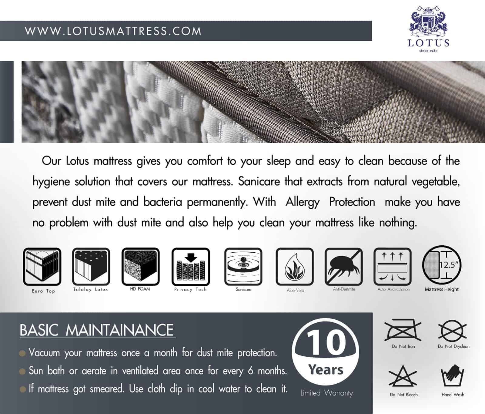 Lotus Mattress | Privacy Tech - SORENTO 18