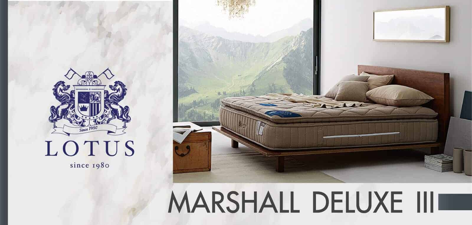 Lotus Foam Spring Mattress Marshall Deluxe III - Good Balance Mattress - Thickness 13 inches - Warranty 10 years 5