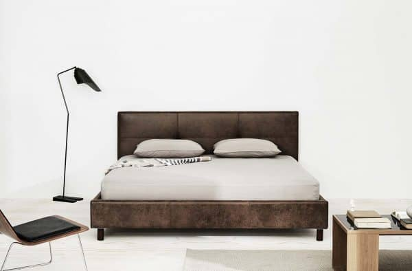 Lotus Bed frame : BedSense-01  - PU Leather : Leg – Wood 2