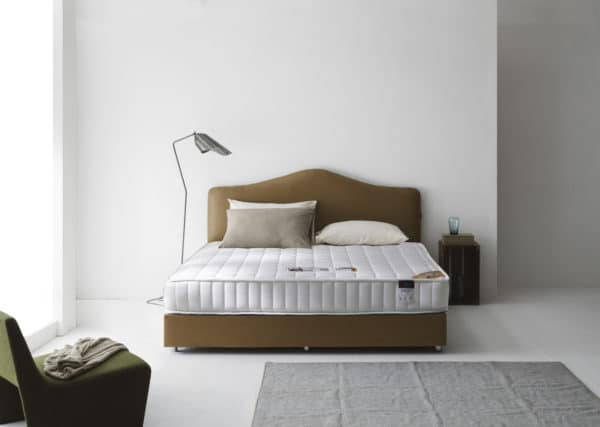 Lotus Bed frame : Motive – Bed Cover Microfibre Fabric and PU Leather – Leg – Chromed Metal and Swivel Caste 1