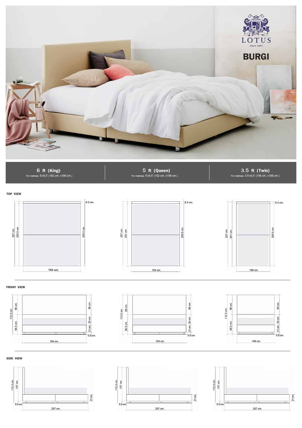 Lotus Bed Frame - Burgi 5