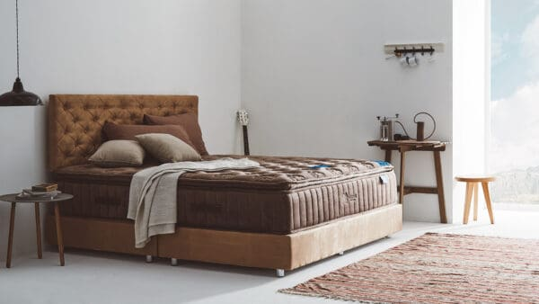 Lotus Mattress Woodfield with Bed Frame Lucia 1